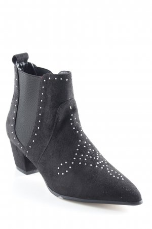 Bebo Western Booties black glittery