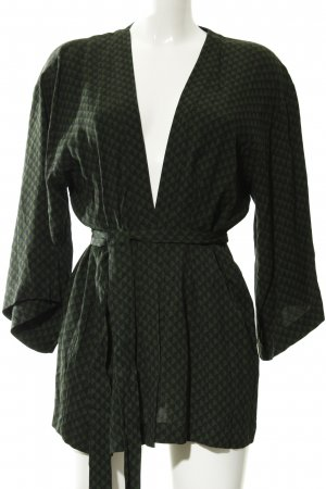 Becksöndergaard Cardigan dark green-black abstract pattern casual look