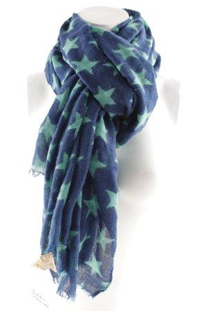 Becksöndergaard Halsdoek blauw-turkoois Sterrenpatroon extravagante stijl