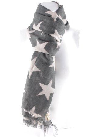 Becksöndergaard Pañoleta crema-gris verdoso Patrón de estrellas look casual