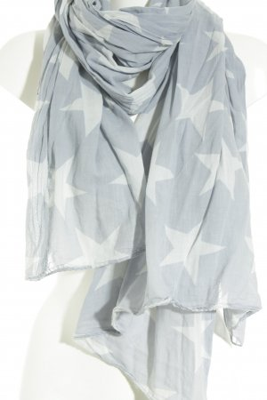 Becksöndergaard Neckerchief azure-light grey star pattern retro look