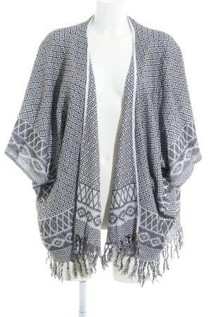 Becksöndergaard Kimono Sweater black-white Aztec pattern Boho look