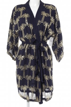 Becksöndergaard Oversized Jacket dark blue-gold-colored abstract pattern