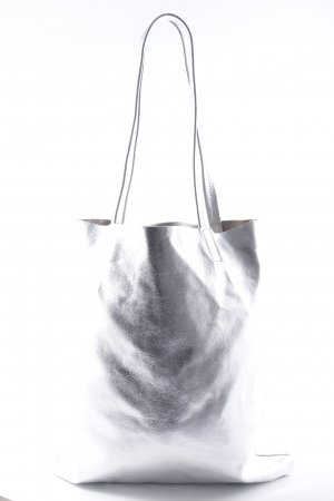 Becksöndergaard Shoulder Bag silver-colored wet-look