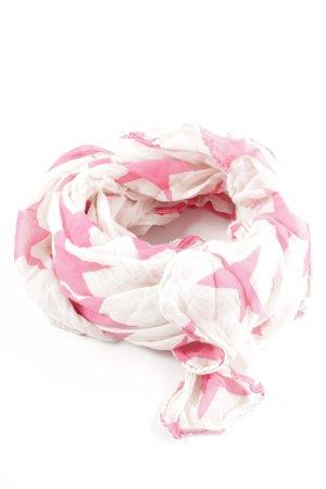 Becksöndergaard Châle au tricot blanc-rose imprimé allover