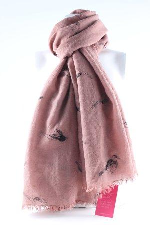 Becksöndergaard Bufanda de seda bermejo estampado temático look casual