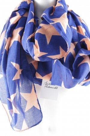 Becksöndergaard Summer Scarf dark blue-apricot star pattern street-fashion look