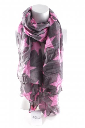 Becksöndergaard Summer Scarf grey brown-pink star pattern casual look