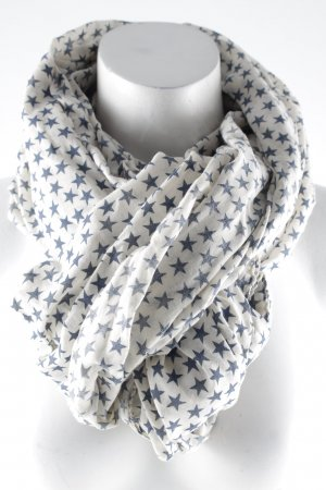 Becksöndergaard Summer Scarf oatmeal-dark blue star pattern casual look