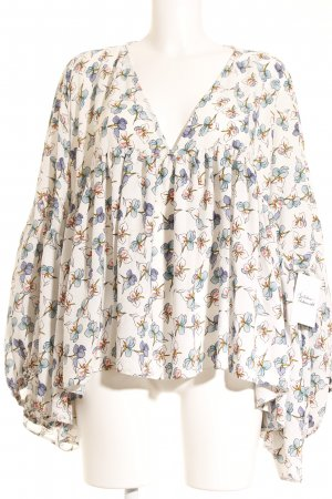 beclaimed vintage Long Sleeve Blouse flower pattern romantic style