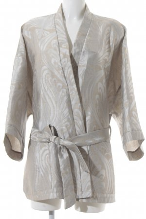 beclaimed vintage Oversized Jacket silver-colored-oatmeal abstract pattern