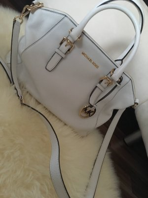 Michael Kors Sac à main blanc-orange doré cuir