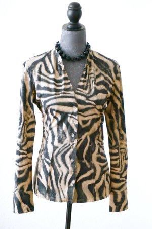 Bedruckte Bluse aus Baumwolle Top Shirt Gr.38-40 MARC CAIN Animalprint