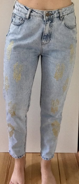 Bedruckte Boyfriend jeans