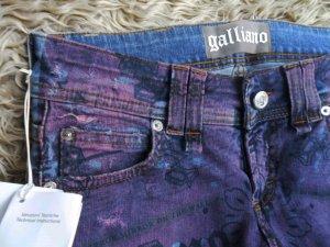 bedruckte Galliano Jeans, neu, Gr. 27/34