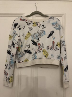Bedruckter london pulli vintage crop
