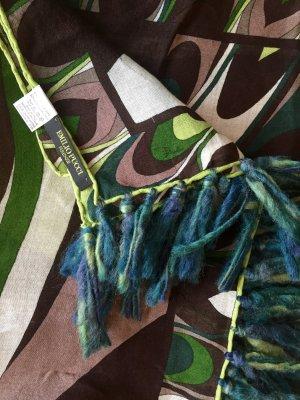 Bedruckter Schal in grünen Tönen von Emilio Pucci
