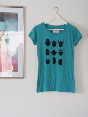 bedrucktes Fairfashion-Shirt mit verrückten Vögeln