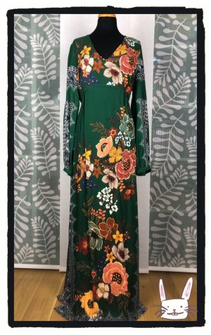 Anthropologie Robe longue multicolore viscose