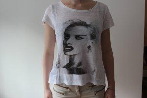 Bedrucktes Shirt weiß
