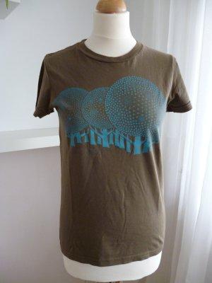 Bedrucktes T-Shirt, American Apparel, olivgrün, Gr. M