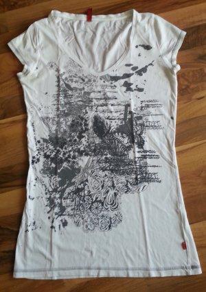 bedrucktes T-Shirt in weiß von QS, Größe M