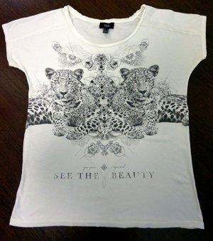 Bedrucktes T-Shirt mit Nieten
