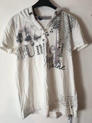 bedrucktes weißes Cecil T-Shirt