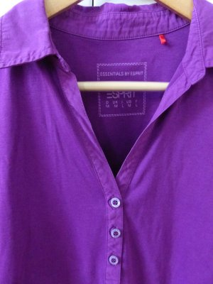 Esprit Polo Shirt violet cotton