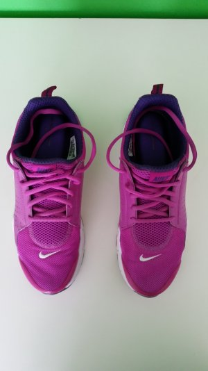 Nike Lace-Up Sneaker magenta-white