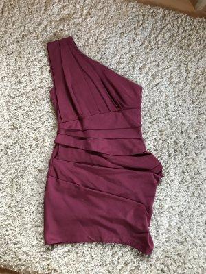 Beerenfarbenes One-Shoulder Kleid von ASOS Gr.36