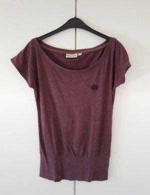 Beerenfarbenes T-Shirt von Naketano