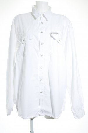 beethoven jeans Chemise à manches longues blanc style décontracté