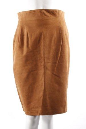 Begedor Leather Pencil Skirt cognac