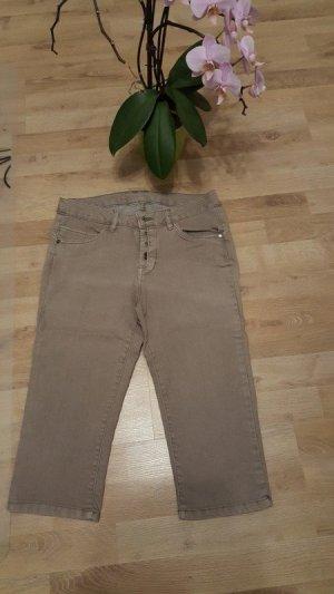 Takko 3/4 Length Trousers light brown-beige