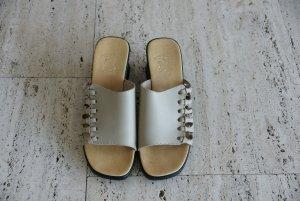 Beige Absatz-Pantoletten, Größe 40, Ungetragen