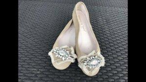 Alberto Ballerinas with Toecap oatmeal suede