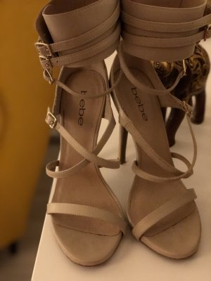 bebe Strapped Sandals cream