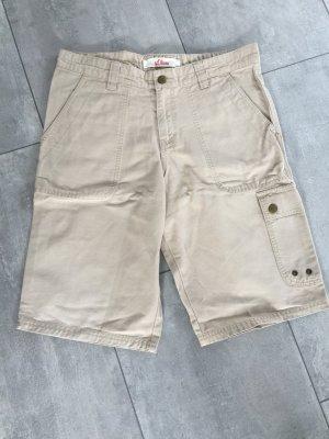 s.Oliver High-Waist-Shorts oatmeal-beige