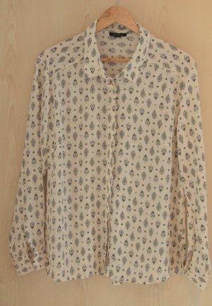 Beige Bluse mit Muster von Amisu