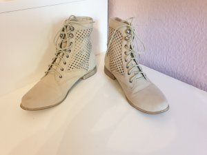 Lace-up Booties cream-oatmeal