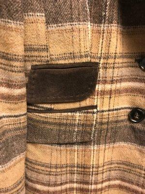 Redingote marron clair-brun laine