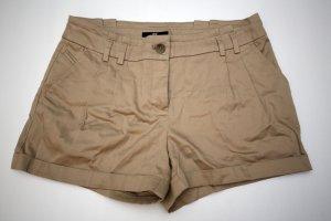 Beige / braune H&M Shorts Gr. 34 / XS