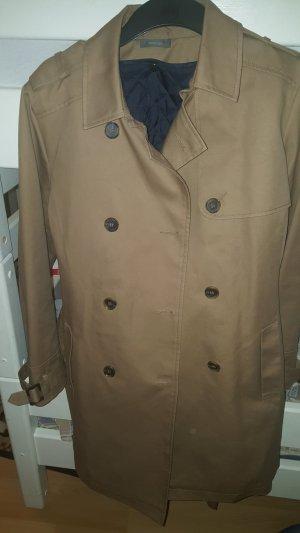 beige/braune jacke mit windschutzweste innen (dunkelblau) , ist abnehmbar