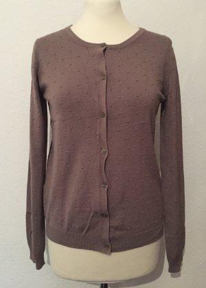 Beige-brauner Pullover mit Punkten NEU