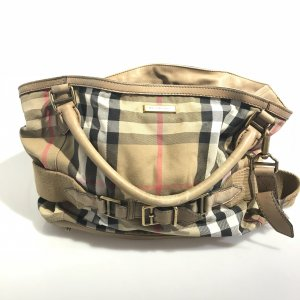 Beige Burberry Shoulder Bag