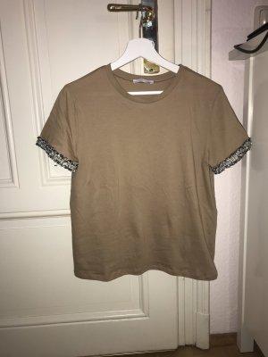 Beige/Camelfarbenes Shirt von Zara