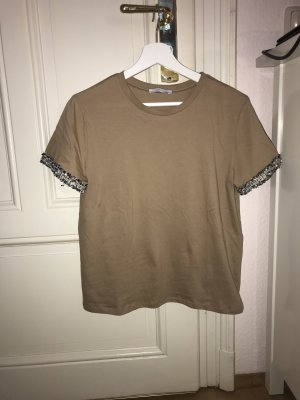 Zara Camiseta beige-camel