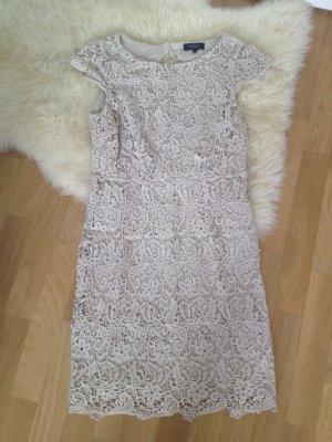 Beige chic elegante dress Kleid Spitze #sommer