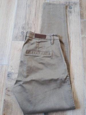 beige Chino / Baumwolle Canvas / seitliche Taschen / skinny Chino